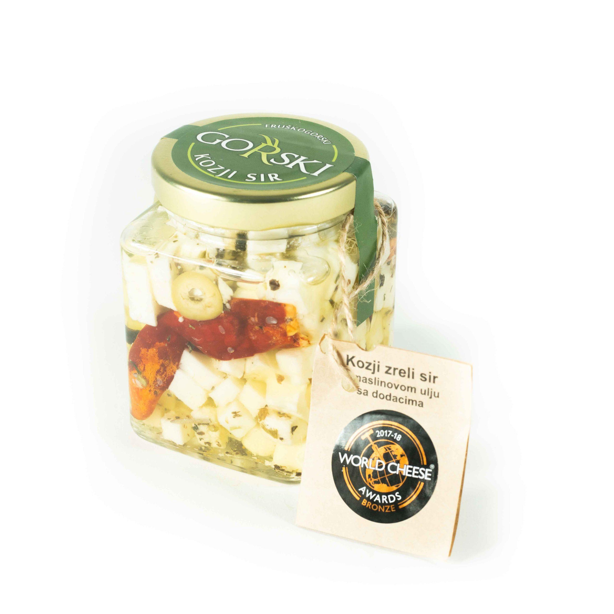 Kozji sir u maslinovom ulju sa dodacima 200g Gorski