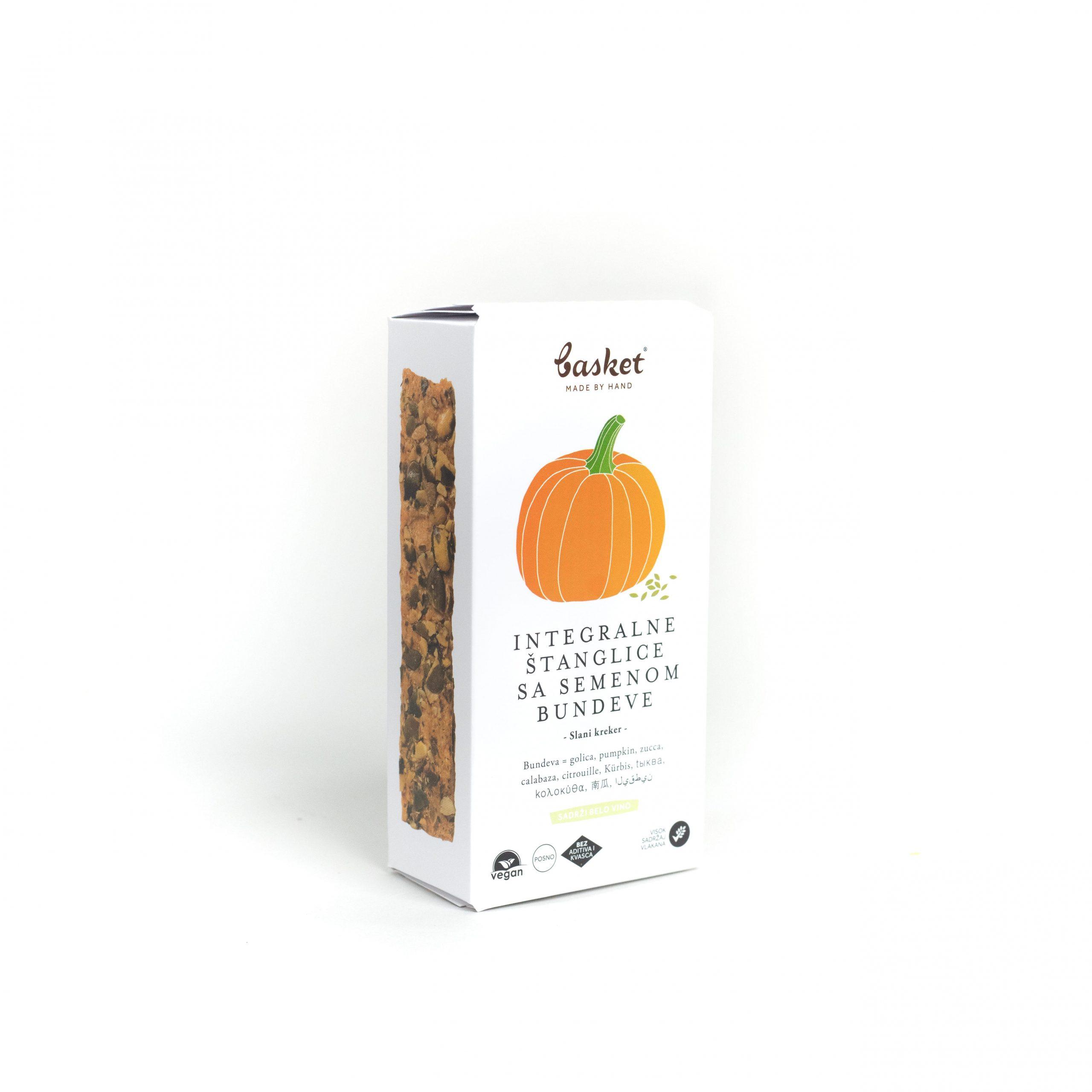 Integralne štanglice sa semenom bundeve