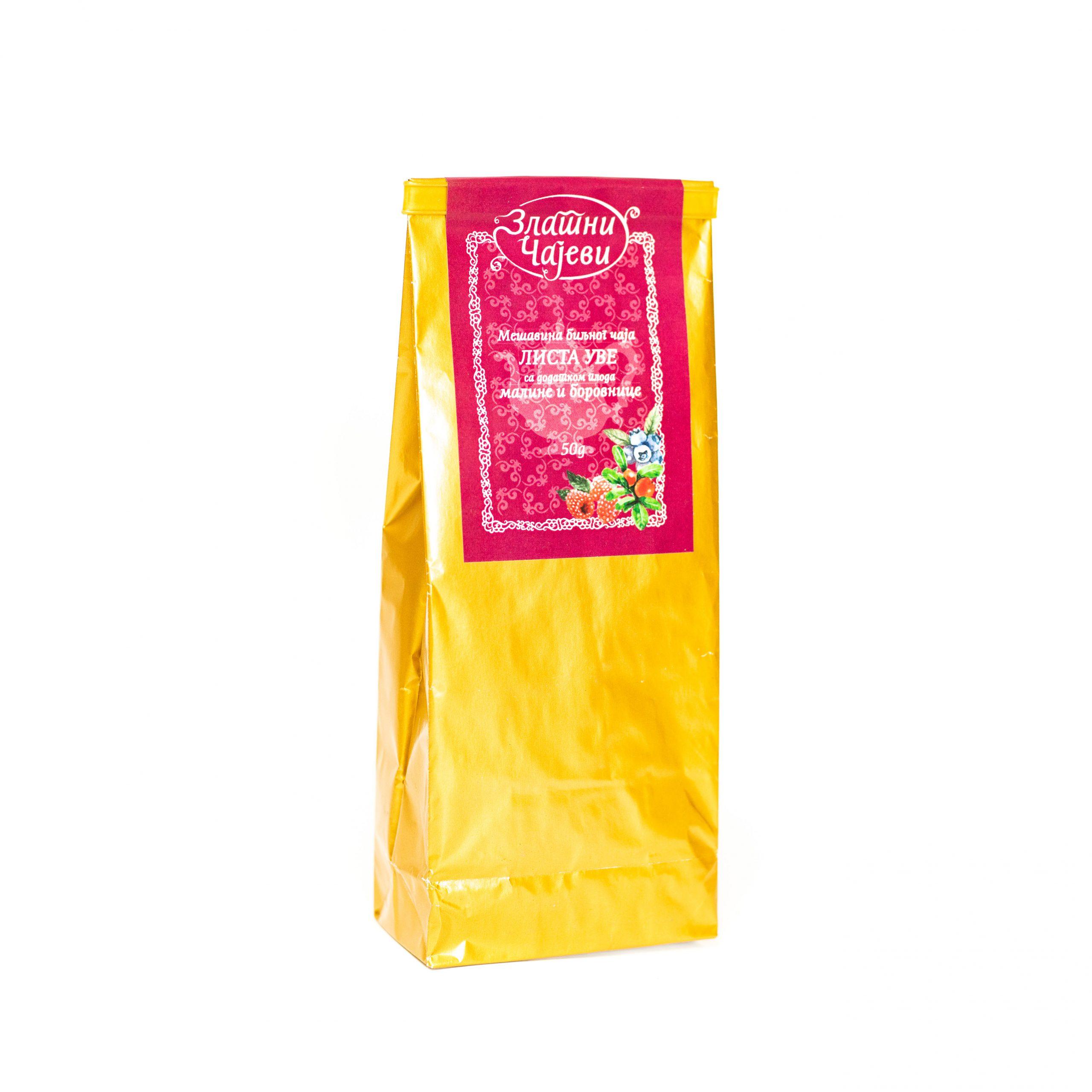 Biljni čaj lista uve 50g Zlatni Čajevi