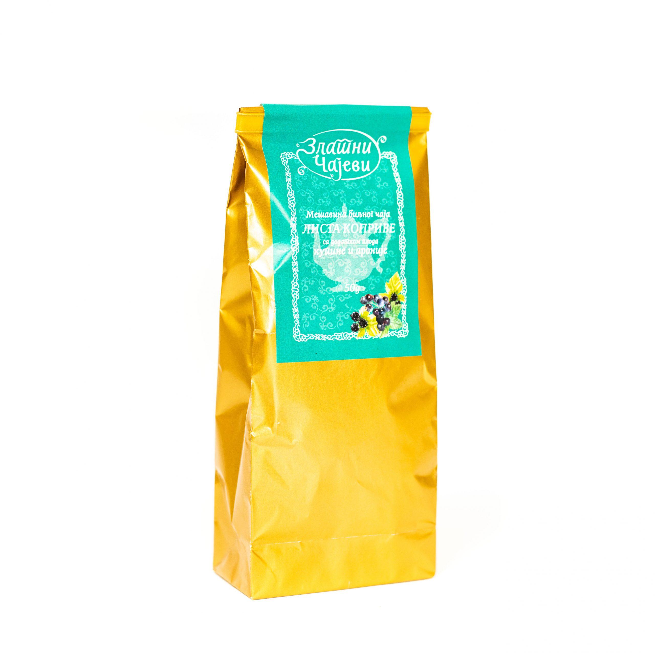 Biljni čaj lista koprive 50g Zlatni Čajevi