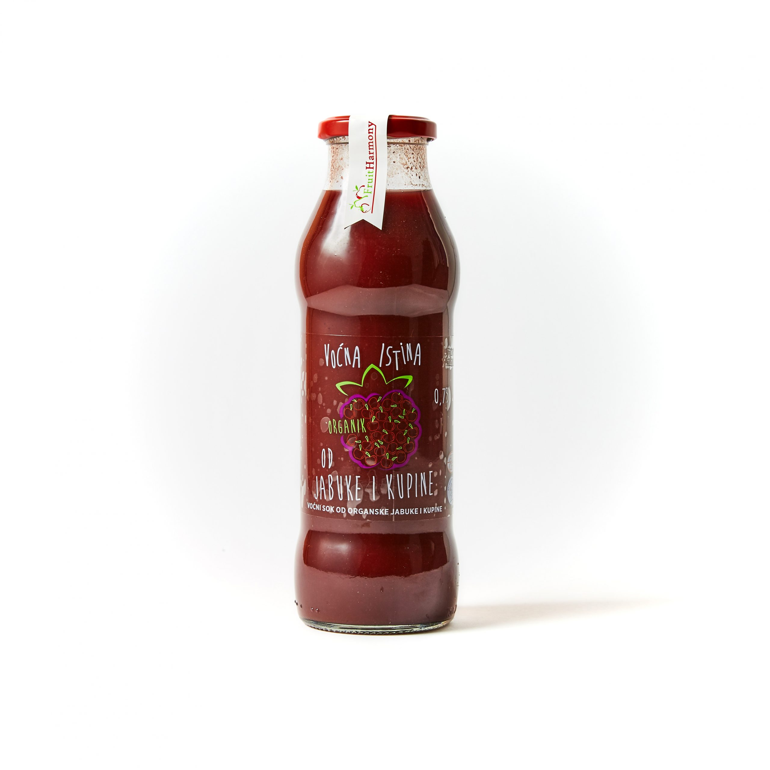 Organski sok od jabuke i kupine 0,75l