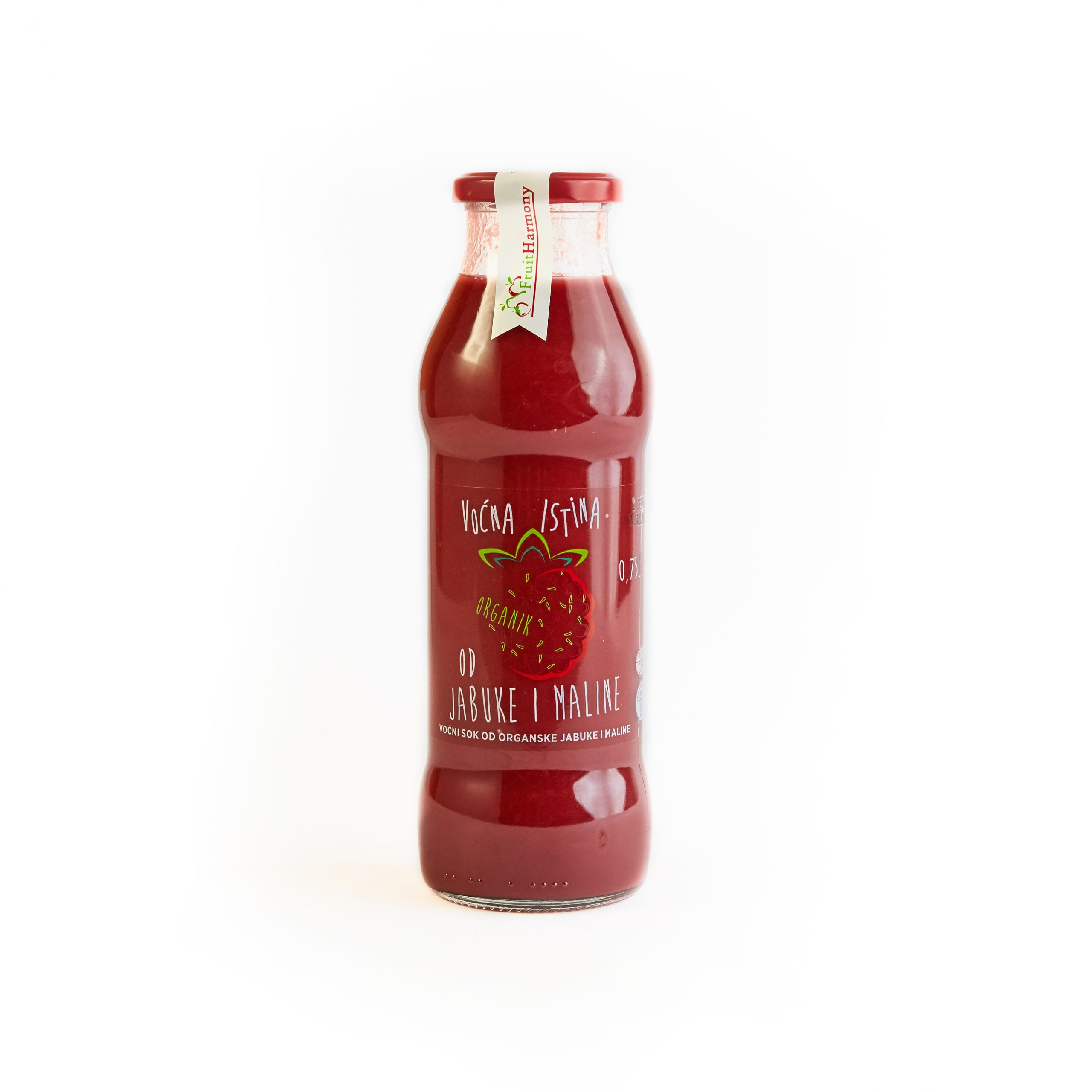 Organski sok od jabuke i maline 0.75l