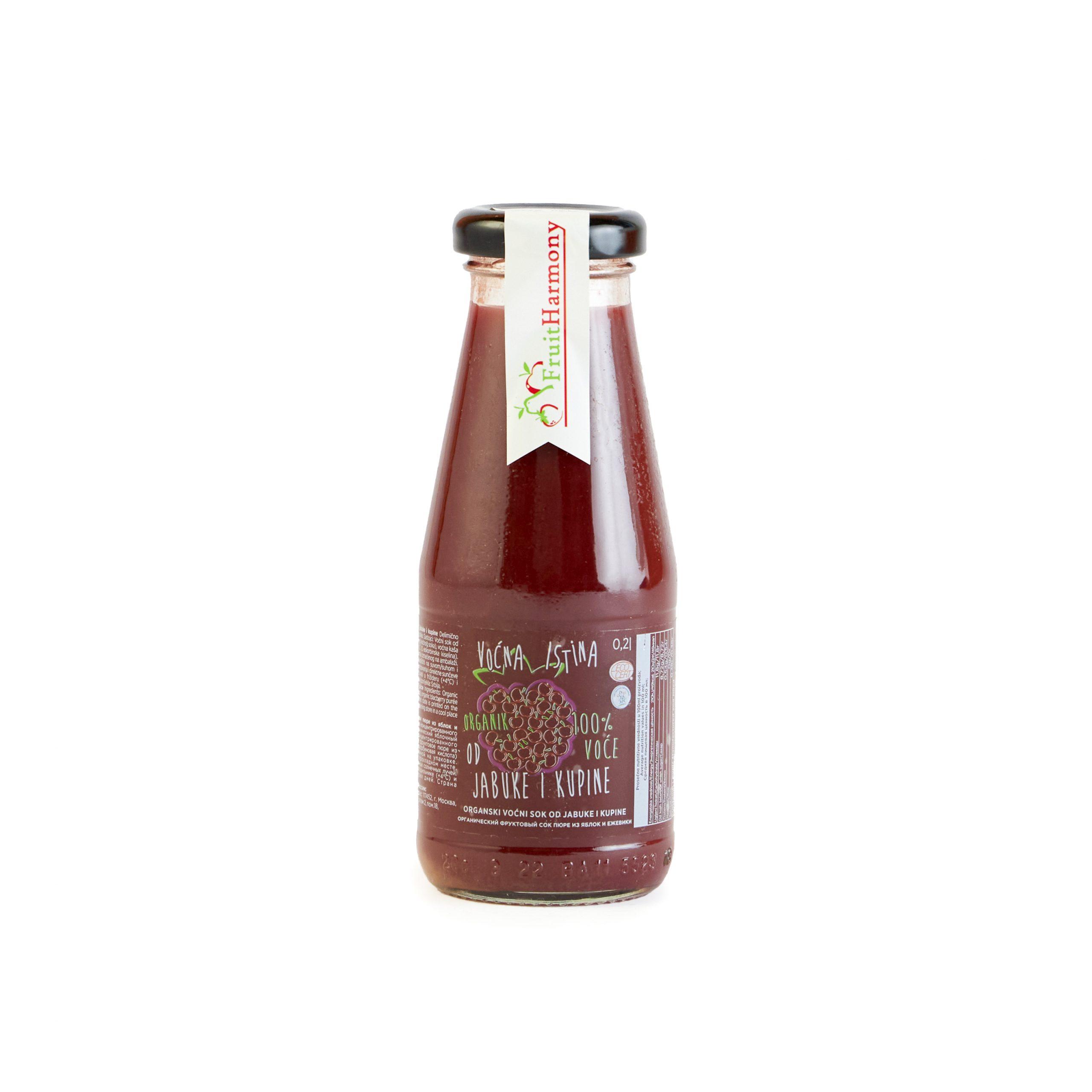 Organski sok jabuka-malina 0,2l